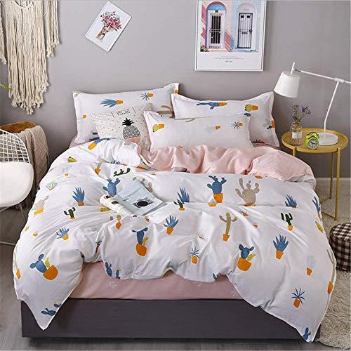 SSHHJ Cotton Bedlinen Print Bedding Set Double Single Pillowcase and Duvet Cover D 220x240cm