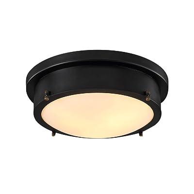 Mengke Led Ronde Lampe De Plafond Retro Plafonnier Luminaire Vintage