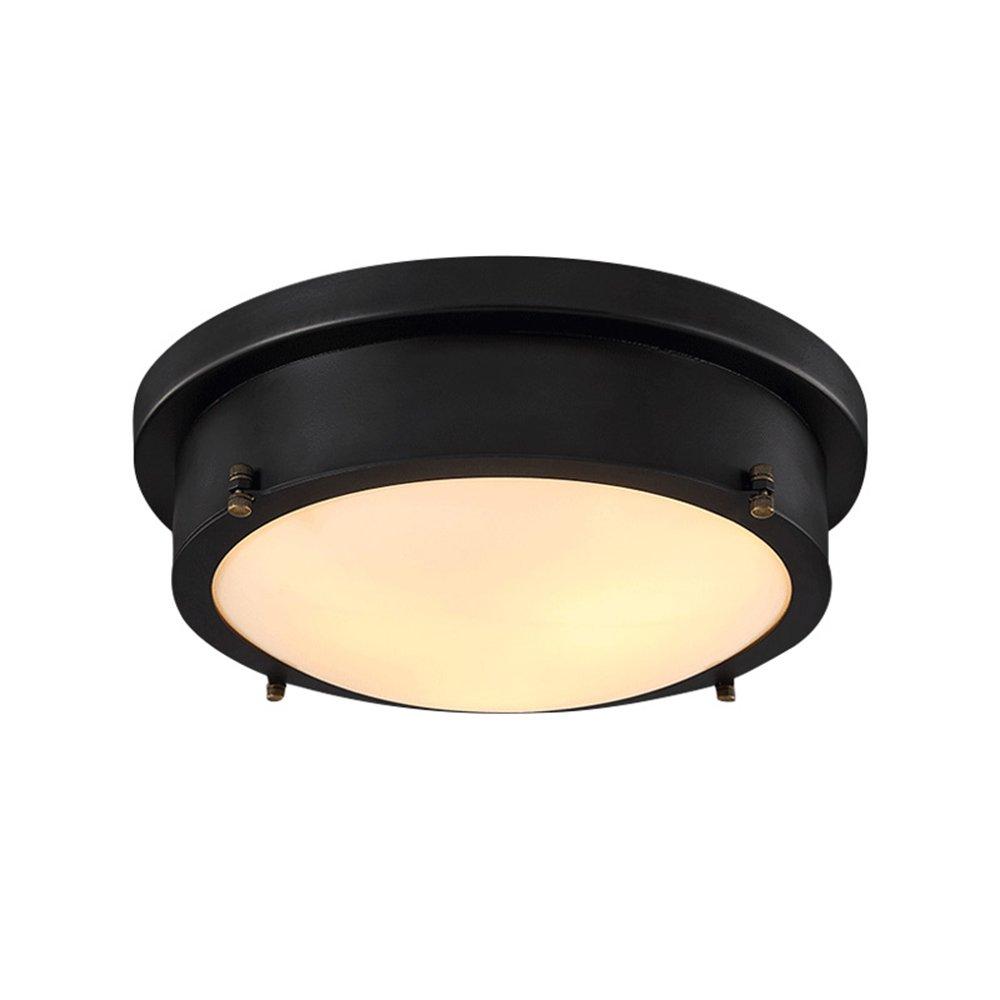MENGKE LED 24W Retro Deckenleuchte Vintage DeckenLampen Antik Minimalismus Deckenbeleuchtung Industrie Deckenstrahler Glas Lampeschirm für Flur Wohnzimmer Schlafzimmer Balkon (Leuchtmittel enthalten)
