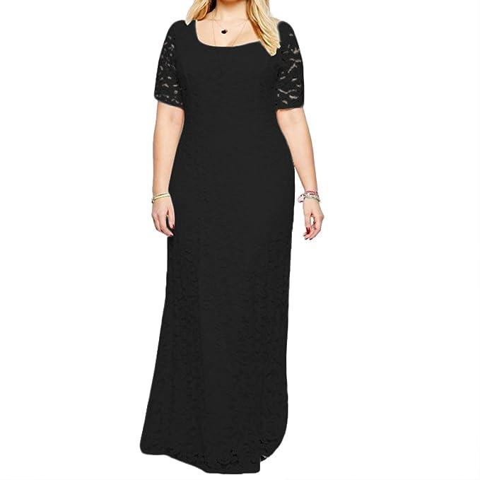 DAVID.ANN Women\'s Full Lace Plus Size Wedding Maxi Dress Gowns ...