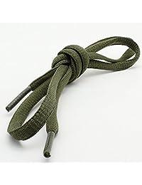 "DailyShoes Women's Oval Shoelaces 31 Colors Half Round 1/4"" Shoe Laces 4 Different Lengths"