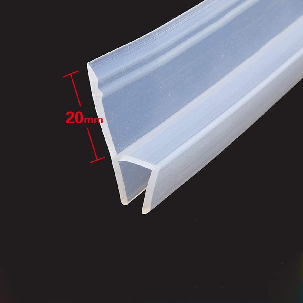 MELAG Joint de Porte de Douche pour paroi en Verre 6-12 mm de Forme Droite ou incurv/ée,Jusqu/'/à 20 mm de Jeu,pour Coupe-Vent et imperm/éable