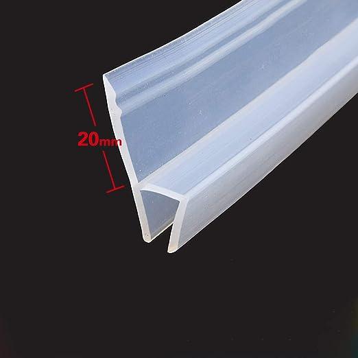 MELAG Junta para mampara de Ducha,para Vidrio Recto o Curvado,con separación de hasta 20 mm,Espesado,ensanchado,Utilizado para protección contra el Viento e Impermeable: Amazon.es: Hogar