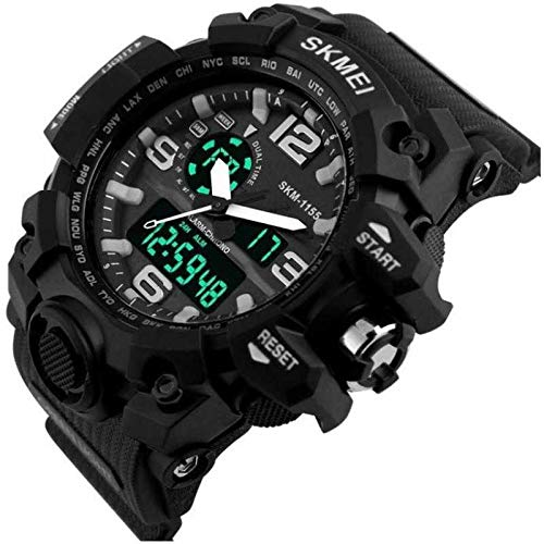 SKMEI Sports Analog Digital Men #39;s Watch  Black Dial, Black Colored Strap