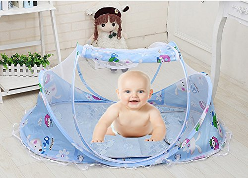 Baby Mosquito Net Bed (Blue) - 5