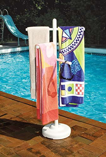 (Hydrotools Indoor Outdoor Swimming Pool Weighted Poolside Towel Rack (2 Pack))