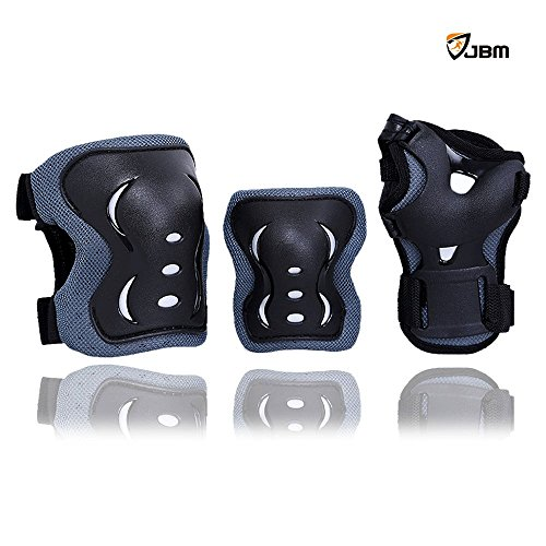 JBM Protective Pads Black Adjustable Skateboard product image