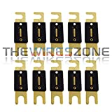 Gold Plated 250 Amp ANL Fuse Inline Wafer for Car Audio (10/pack)