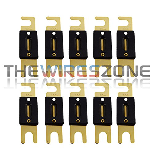 Anl Wafer - Gold Plated 250 Amp ANL Fuse Inline Wafer for Car Audio (10/Pack)