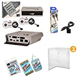 Super Retro Trio Gaming Bundle with 6' Foot Extension Cable, 3 Protective Universal Game Cases, Universal Cartridge Cleaning Kit - Silver and Black Edition