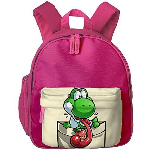 A&L Pocket Yoshi Fruit Boys Girls Neutral Oxford School Backpack Satchel -