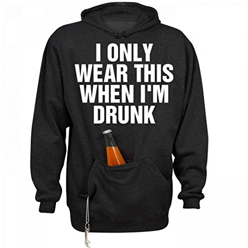 FUNNYSHIRTS.ORG My Drinking Hoodie: Unisex J. America Tailgate Hoodie (Wine Sweater Holder Bottle)