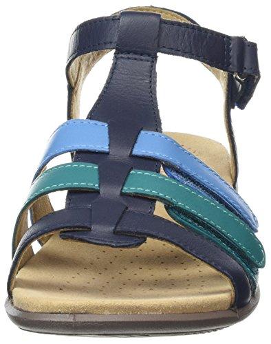 Hotter Sandales navy Bout Ouvert Blue Femme Sol r7x5qYAr