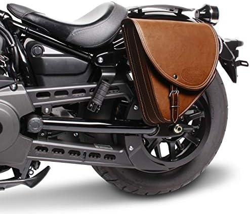Satteltasche Indiana 10L f/ür Triumph Bonneville Bobber braun Links