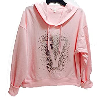 Victoria's Secret Fleece Boxy Pullover Hoodie Jacket Large Light ...