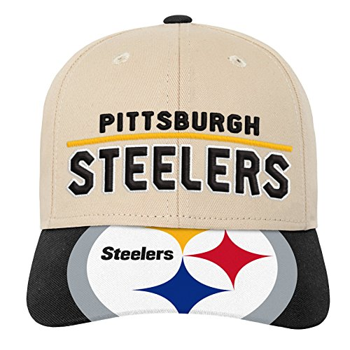 Outerstuff NFL NFL Pittsburgh Steelers Youth Boys Retro Style Logo Structured Hat Black, Youth One Size
