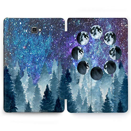 Wonder Wild Night Forest Samsung Galaxy Tab S4 S2 S3 A E Smart Stand Case 2015 2016 2017 2018 Tablet Cover 8 9.6 9.7 10 10.1 10.5 Inch Clear Design Trees Plants Space Purple Blue Green Universe New -