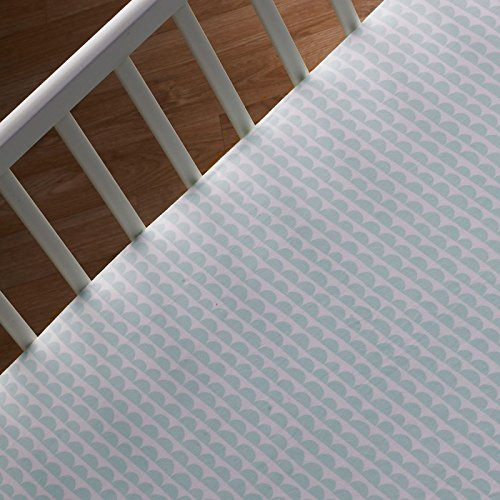 Home Scallop (Lolli Living Sparrow Crib Fitted Sheet - Mint Scallop)