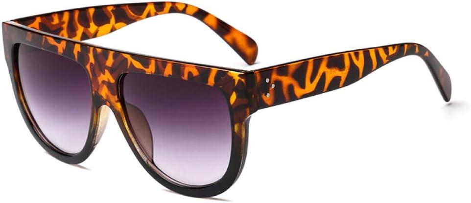 Gafas De Sol Gafas De Sol De Tendencia para Hombre, Gafas Protectoras UV De Marco Grande De Plástico Vintage para Mujer, Gafas De Viaje