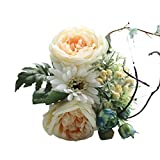 Compia Artificial Rose Gerbera Jamesonii Bolus African Daisy Silk Fake Flowers Floral Bouquet For Wedding Party Home Decor