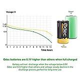 Odec Rechargeable D Battery, 4-Pack 10000mAh Deep