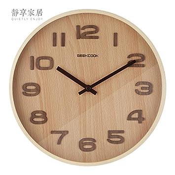 Huayifangdas Wohnzimmer Wanduhr Holz Einfach D Amazonde Küche