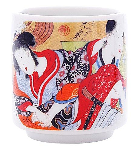 5 PCS CERAMIC JAPANESE SAKE CUPS GUINOMI (EROTIC ART) by Japan Good Products (Image #5)