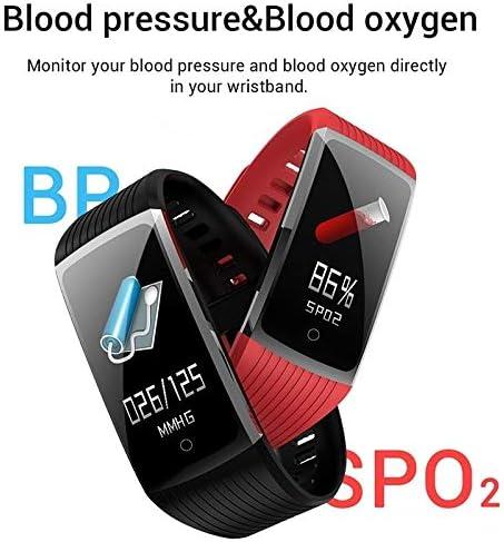 WBZ ZJX Intelligente Braccialetto della Fascia Fitness Heart Rate Monitor di Pressione sanguigna, Salute Wristband Pedometro Moda Orologi Sportivi Tracker Viola