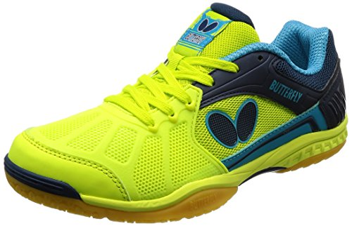 Butterfly Lezoline Rifones Table Tennis Shoes, Green, Size 7.0