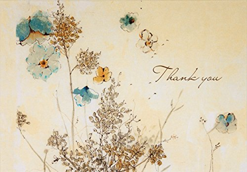 - Watercolor Flowers Thank You Notes (Stationery, Note Cards)