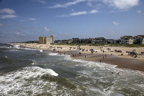 Photograph| Beach scene near Jennette's Pier in Nags Head, a community on North Carolina's Outer Banks 1 Fine Art Photo Reproduction 66in x 44in