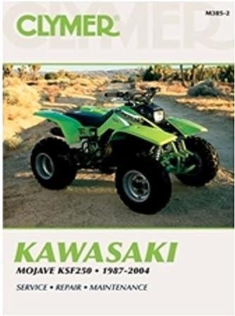 amazon com clymer repair manual for kawasaki atv mojave ksf250 87 rh amazon com 1987 Kawasaki Mojave 250 Kawasaki Mojave 250 Parts
