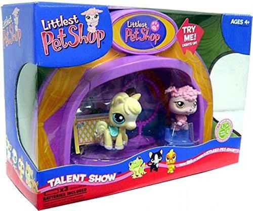 Littlest Pet Shop Light Up Dome Talent Show with Poodle #402 & Pony #403