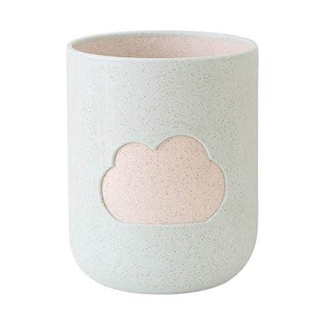 DERKOLY - Taza de Vaso para Cepillo de Dientes, Doble Capa, diseño de Paja