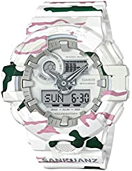 Casio G-Shock X SANKUANZ Mens Watch White Camo 54mm Resin case GA700SKZ-7A