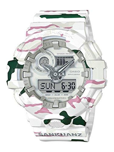 Casio G-Shock X SANKUANZ Men's Watch White Camo 54mm Resin case GA700SKZ-7A