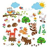 Adhesivos decorativos para el arte de la pared del bebé /guardería de Woods