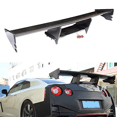 (FidgetKute Fits for Nissan NISMO GTR R35 GT-R 09-15 Rear Trunk Spoiler Boot Wings Carbon Fiber)