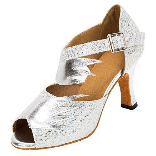TDA - Zapatos con tacón mujer 8cm Heel Silver