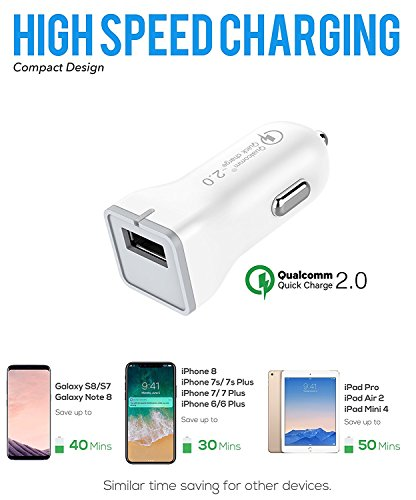 Galaxy S7 Wall and Car Charger Kit with Micro-USB Cable/Galaxy S6/Galaxy S6 Active Charger Fast Micro USB 2.0 Cable by ixir Compatible with Samsung Products - (Fast Wall + Car Charger + 2 Cables) by Ixir (Image #4)