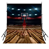 LYLYCTY 5x7ft Basketball Court Backdrop Indoor Scene Basketball Rim Photography Backdrop Sports Club Photography Background Props Studio Display Mural LY069