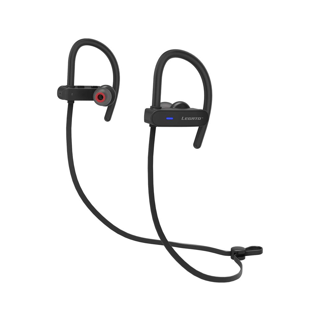 Legato Sport Bluetooth Headphones Wireless Earbuds IPX7 Waterproof, Workout, Running, Gym V4.1 Extreme Bass HD Sound, 7 hrs Playback Noise Cancelling Microphone