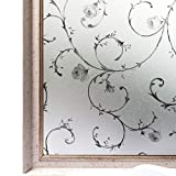 Window Film Static Privacy Decoration Self Adhesive for UV Blocking Heat Control Glass Stickers,35.4x78.7 Inches