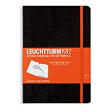 LEUCHTTURM1917 A5 Medium Dotted Academy Notepad - Black