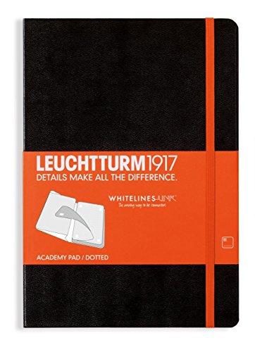 Leuchtturm1917 Whitelines Hardcover Medium Dotted Notebook - Black by LEUCHTTURM1917