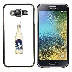EJOOY---Cubierta de la caja de protección para la piel dura ** Samsung Galaxy E5 E500 ** --Cola Blanca Negro Soda Pop Diseño