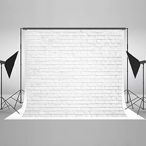 Kate 7x5ft White Brick Wall Photography Backdrops Portrait Photo Backgrounds Photo Studio Props (Photographer Background)