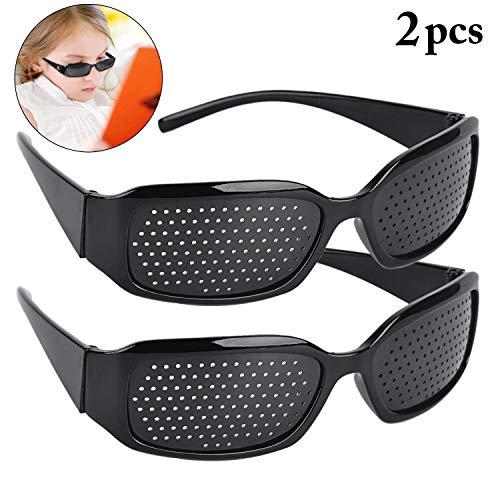- Aeightam 2 Pcs Black Pinhole Hole Glasses Improve Glasses Vision Care Glasses Eye Glasses Improve Exercise Glasses Eyesight Vision Care Eyewear Glasses