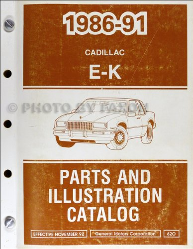 1986-1991 Cadillac Eldorado and Seville Parts Book Original