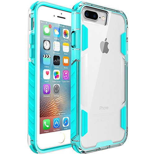 iPhone 8 Plus Case,iPhone 7 Plus Case,Zisure[Rock Sugar] Heavy Duty Crystal Solid Clear Case Durable Shatterproof Sports Cover for iPhone 8 Plus/iPhone 7 Plus 5.5 inch (Mint Blue)